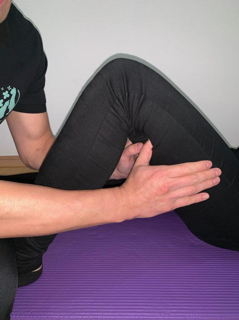 遠位部の腸脛靭帯リリースの写真