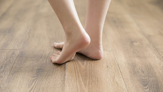 女性の脚 踵