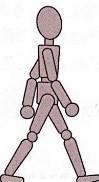 立脚終期のイラスト